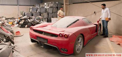 rare ferrari enzo rare ferrari in dubai police pound for 6 years emirates 24 7