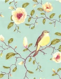 Door Blinds Curtains Decowunder Wallpapers Non Woven Wallpaper Birds Flowers