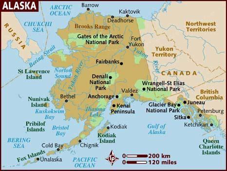 alaska on usa map map of alaska