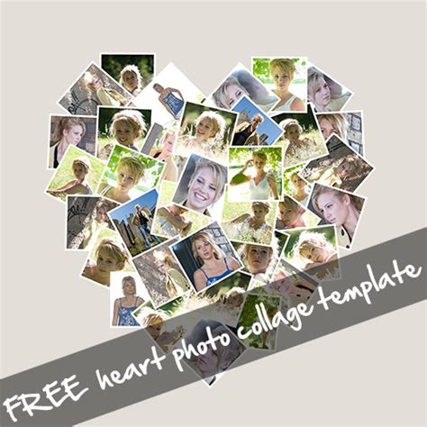 Free Shaped Photo Collage Template Free Heart Shaped Photo Collage Template Love Your Pics