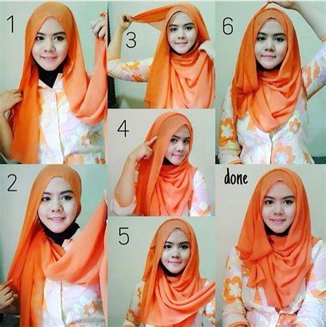 foto hijab pashmina foto cara berhijab casual yang mudah dipraktekan hijabers