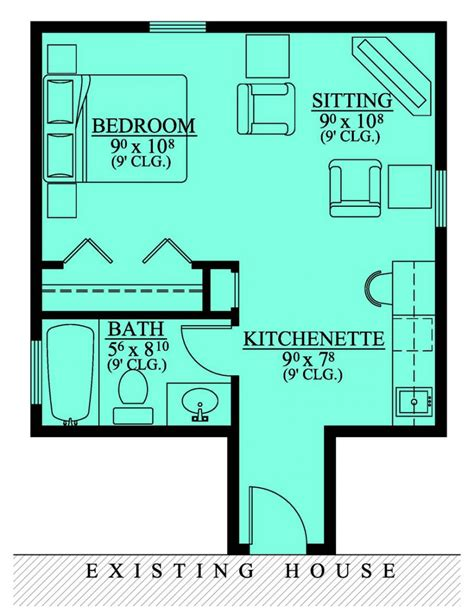 in law suite house plans