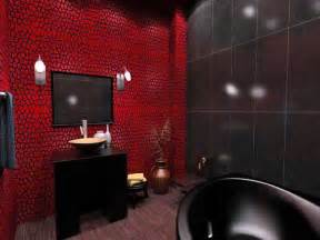 Red And Black Bathroom Ideas by Red Black Bathroom Decor 2017 Grasscloth Wallpaper