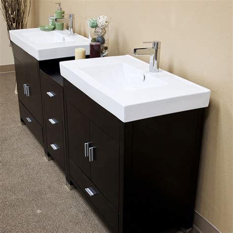 80 double sink bathroom vanity bellaterra 80 quot double sink bathroom vanity black white top 203107 d j keats