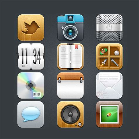 themes for iphone icons 25 absolutely free beautiful ios ipad iphone app icons