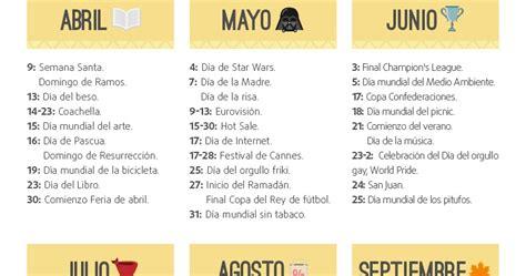 Calendario De Fechas El Selv 225 Tico Calendario 2017 De Fechas Importantes Para