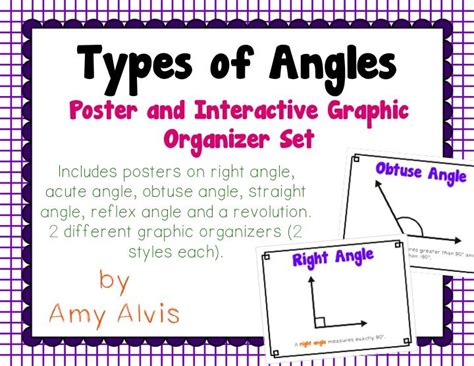 printable angles poster types of angles posters and interactive notebook inb set
