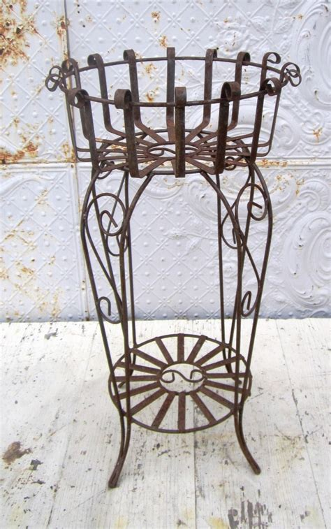 Wrought Iron Planter Stands by Wrought Iron May Plant Stand Pot Holder