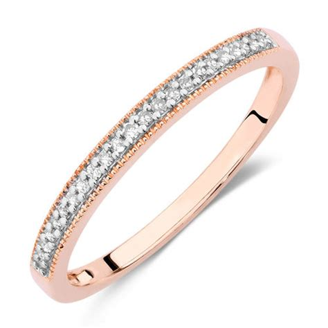 wedding band with diamonds in 10ct gold michael hill