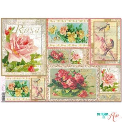 tutorial decoupage papel de arroz papel de arroz flores vintage ster 237 a 48x33 cm papel