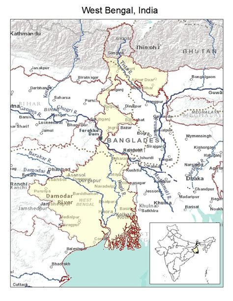 bengal india map the bahu of bengal map of west bengal india with inset