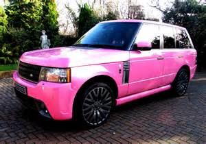 land rover pink celebrities and their outrageous cars stoneacre blog