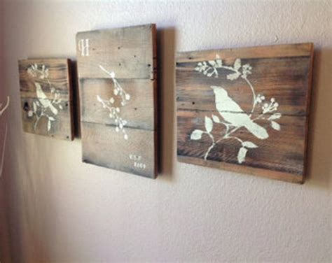 Wooden Wall Decoration Reclaimed Wooden Pallet Wall Art Recycled Things