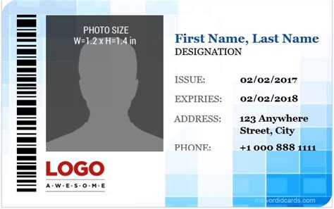crc cards template word 5 best corporate professional id card templates
