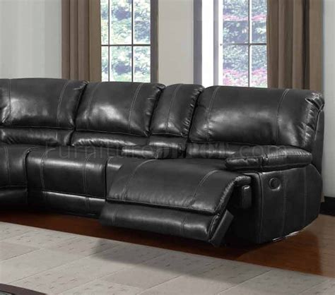 leather motion sectional sofa u1953 power motion sectional sofa black bonded leather by global