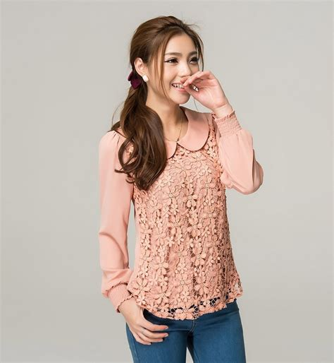 Dress Tangan Panjang Lace blouse brokat lengan panjang toko baju brokat and blouses
