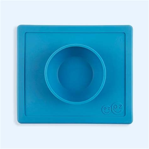 Ezpz Happy Bowl In Blue weaning and feeding products for baby toddlers pre