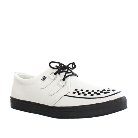 womens mens tuk shoes white leather brothel creeper