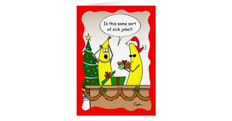 funny christmas card christmas card all i want for funny banana christmas card custom holiday cards zazzle
