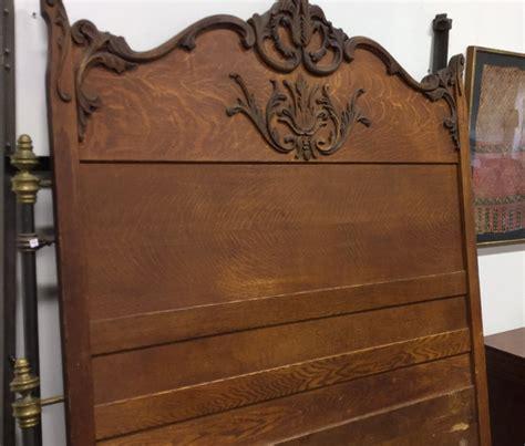 vintage headboard l vintage carved wood headboard