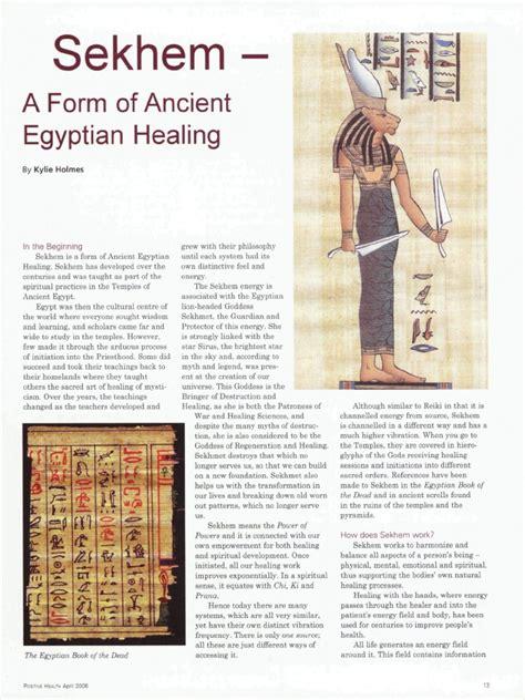 sekhem egyptian healingpdf reiki energy medicine