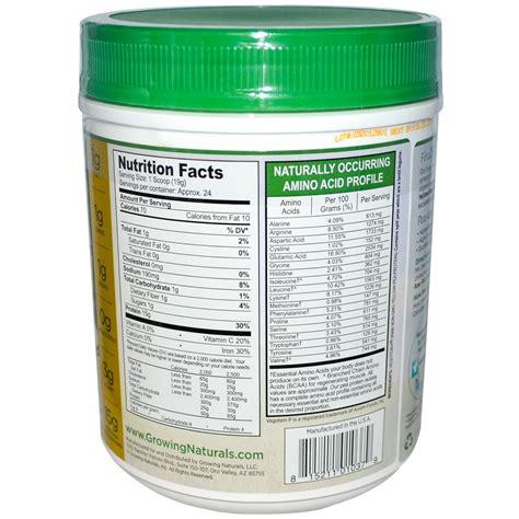protein yellow growing naturals yellow pea protein original 16 oz 456