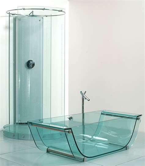 prizmastudio prizma presents a complete glass bathroom collection including glass bathtub