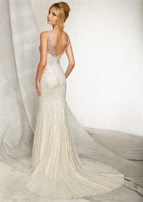 beaded back wedding dress mori beaded back wedding dress sang maestro