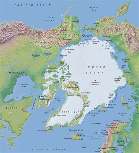 arctic map arctic terrain map map of arctic arctic map
