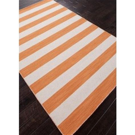 bright orange area rug bright orange and white striped area rug floors
