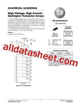 Uln2003a uln2003a datasheet pdf on semiconductor