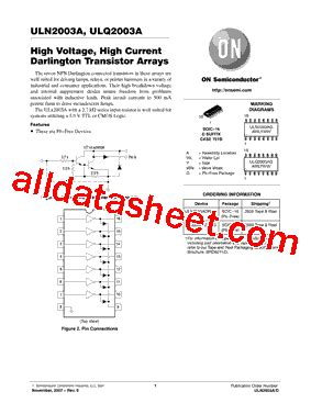 transistor uln2003a datasheet uln2003a datasheet pdf on semiconductor
