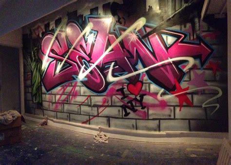 children teen kids nursery graffiti mural hand