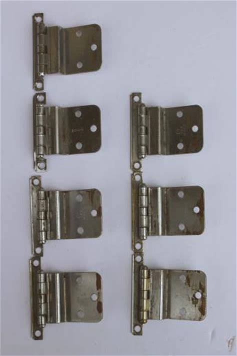 vintage deco chrome hinges kitchen cabinet hardware