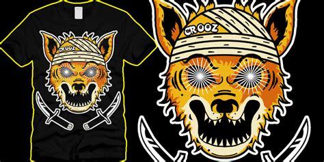 Sign Black Crooz crooz fox t shirt design by mr rallos mintees