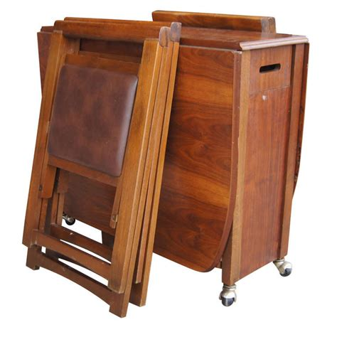 Folding Table With Chairs Inside Lovable Folding Table With Chair Storage Inside Expandable Gateleg Nurani