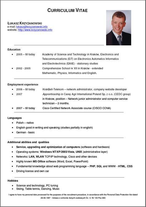 Modelo Curriculum Vitae Nicaraguense Cv 4 Resume Cv
