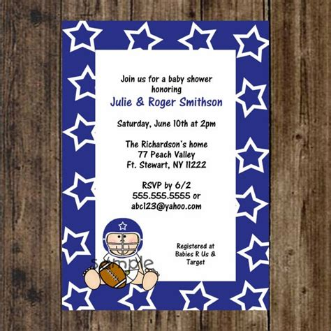 Dallas Cowboys Baby Shower Invitations by 26 Best Images About Dallas Cowboys Baby Shower On