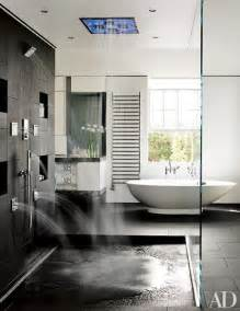 the master bath features a shower system and