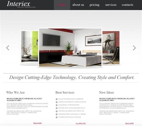 Interior Design Website Templates Will Spice Up Your Life Interior Design Website Templates