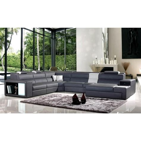 polaris italian leather sectional sofa contemporary luxury furniture living room bedroom la
