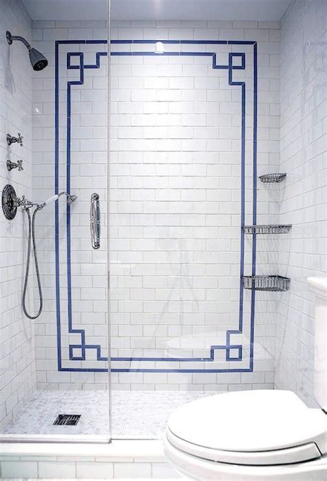 blue border tiles for bathrooms 29 ideas to use all 4 bahtroom border tile types digsdigs