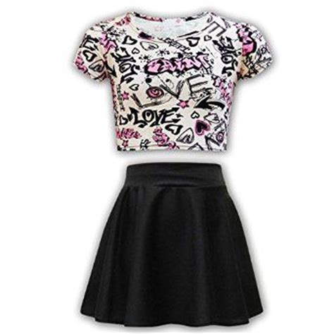 sets for 10 year olds clothing 12 13 years skater skirt set age 7 8