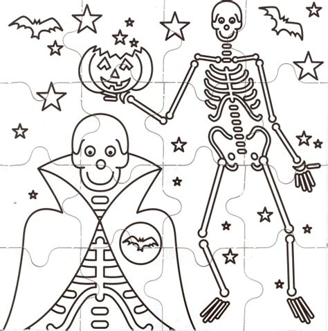 halloween coloring pages and puzzles halloween puzzles coloring pages