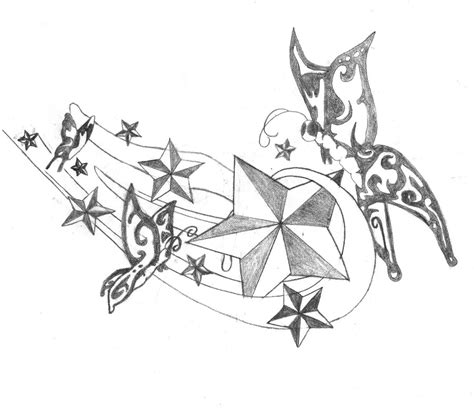 butterfly and stars tattoo designs and butterflies design by breakaway13 on