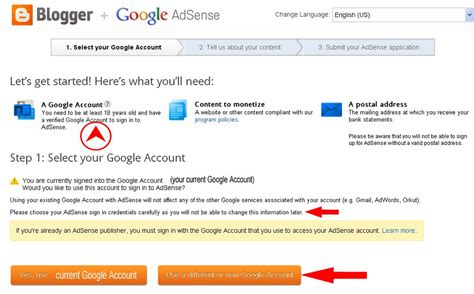 Blogger Adsense Sign Up | helpful information for newbies reapplying for adsense