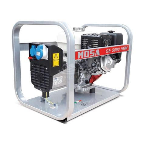 mosa ge 5000 hbm 4 9 kva single phase petrol generator