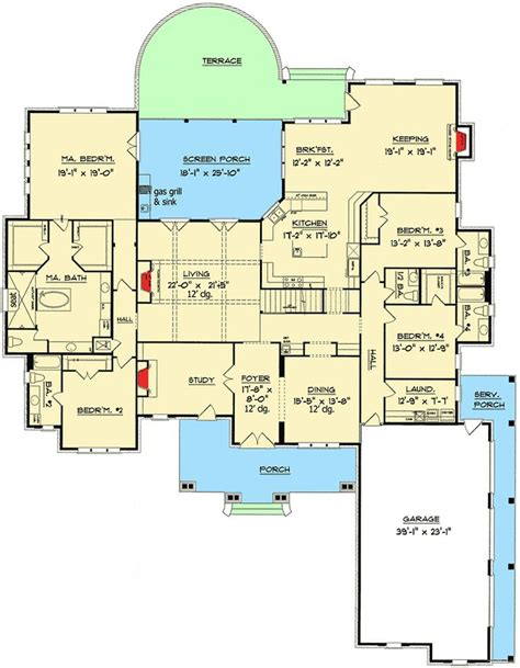 luxury 5 bedroom house plan 13438by 1st floor master 421 best images about house plans on pinterest house