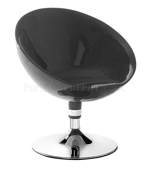 Black Or White Color Contemporary Swivel Club Chair Swivel Club Chairs