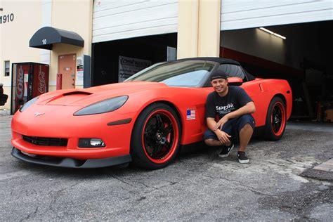 matte red lingenfelter c6 corvette matte red wrap autoevolution